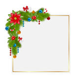 Decorative border from a traditional Christmas elements Stock Photo