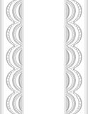 Decorative Border white-gray_center_1 Stock Photography