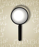 Decorative Border With Magnifying Glass Royalty Free Stock Photo