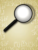 Decorative Border With Magnifying Glass Royalty Free Stock Images