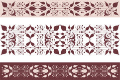 Decorative borders Stock Images