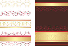 Decorative borders and abstract background. Illustration Royalty Free Stock Photography