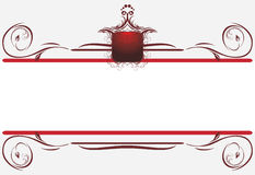 Decorative borders for card. Title. Illustration Royalty Free Stock Image