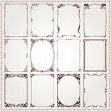 Decorative borders and frames Art Nouveau style vector Royalty Free Stock Photo