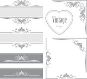 Decorative borders and frames for vintage design Royalty Free Stock Image
