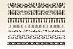 Decorative borders  illustration Stock Images