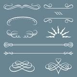 Decorative borders and ornaments Stock Images