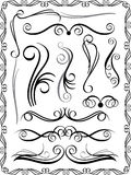 Decorative Borders Set 1 Royalty Free Stock Photos