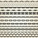Decorative borders. Set of 12 decorative borders, design elements royalty free illustration