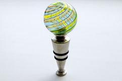 Decorative bottle cap from Murano glass Stock Images