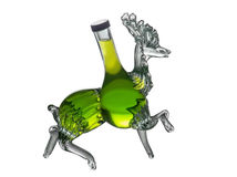 Decorative bottle stag by Foxovsky Royalty Free Stock Images