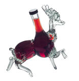 Decorative bottle stag by Foxovsky Royalty Free Stock Photo
