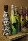 Decorative bottles Stock Images
