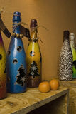 Decorative bottles Stock Image