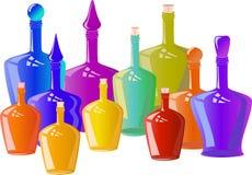 Decorative bottles of different sizes. Vector Illustration of Decorative bottles of different sizes stock illustration