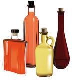 Decorative bottles for drinks royalty free stock image