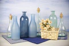 Decorative bottles set Stock Images