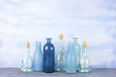 Decorative bottles set Stock Image