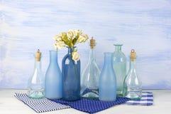 Decorative bottles set Stock Photos