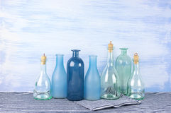 Decorative bottles set Royalty Free Stock Image