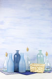 Decorative bottles set Royalty Free Stock Photos