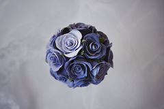 Decorative bouqet of blue roses. Decorative wedding bouqet of blue roses Royalty Free Stock Photography