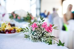 Decorative bouquet at a wedding Royalty Free Stock Photography