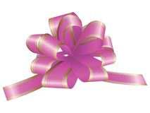 Decorative bow with stripes for your design on white background Royalty Free Stock Photo