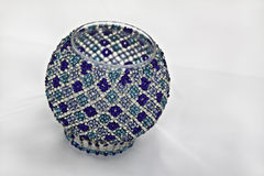 Decorative Bowl. A hand crafted beaded bowl Royalty Free Stock Photography