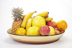 Decorative Bowl of Colorful Seasonal Tropical Fruit Royalty Free Stock Photo
