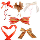 Decorative bows isolated Stock Images