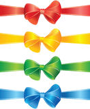 Decorative bows and ribbons set Royalty Free Stock Photography