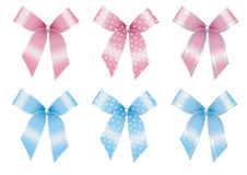 Decorative bows set Stock Photos