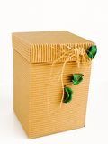 Decorative box. Cardboard box used usually for gift packaging royalty free stock images