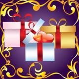 Decorative box with hearts. Royalty Free Stock Photo