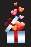 Decorative box with hearts. Royalty Free Stock Photos