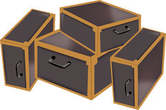 Decorative boxes Royalty Free Stock Images
