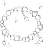 Decorative bracelet coloring page Stock Images