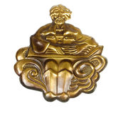 Decorative brass ornament Stock Image