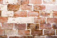 Decorative brick bill. Built of red brick wall obsolete stock images
