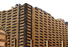 Decorative brick wall isolated Royalty Free Stock Photography