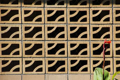Decorative Brick Wall on Patio Stock Photography