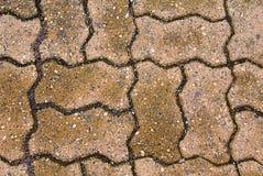 Decorative Bricks. A set of decorative bricks on a patio Royalty Free Stock Photography