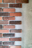Decorative bricks at the end of a wall Royalty Free Stock Photography