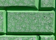 Decorative bricks. Paintings on the wall stock image