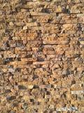 Decorative bricks wall with stone like finish Stock Photos