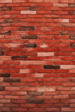 Decorative bricks wall vertical. Red decorative bricks wall vertical as background royalty free stock images