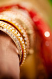 Decorative bridal bangles Stock Image