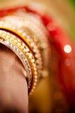 Decorative bridal bangles Stock Image