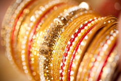Decorative bridal bangles Royalty Free Stock Photos